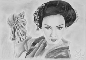 woman from Japan by margaret-art