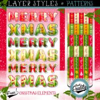 FREE CHRISTMAS ELEMENTS, STYLES AND PATTERNS by Romenig