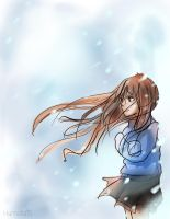 Anime girl in the cold by Hamzilla15