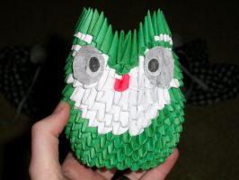 Green Origami Owl by Rescue-Is-Possible