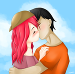 [REQUEST] Jerald and Alexandra for MrGamerJz by Crythelittledevil