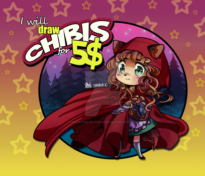 I will draw chibis for 5$ by Daughter-of-Fantasy