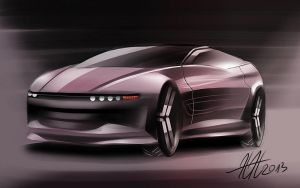 Oxena concept car by koleos33
