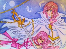 Lightning and Serah by dagga19 by dagga19