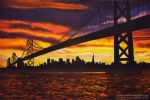Oakland Bay Bridge by ChalkTwins