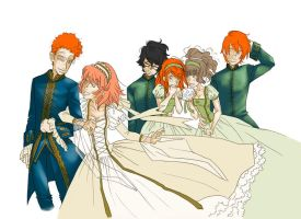 HP . Percy+Ariadne wedding WIP by porotto