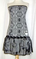 Gray swirl NBC dress by funkyfunnybone