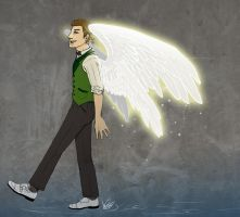 SPN - Glowing wing by Octorin