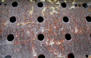Stock texture - Rusted metal with holes by rockgem