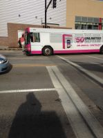 T Mobile Ad Bus by PrincessKooh