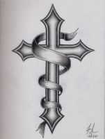 Cross Tattoo by DirtyD41