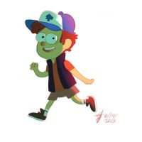 Gravity Falls: Dipper by roboptables