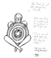 Captain America Con doodle by haiban