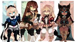 (CLOSED) Adopt Set 4 by TerraTerrific