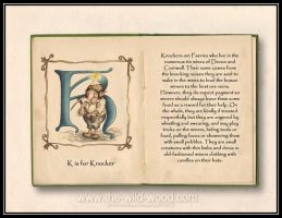K is for Knocker by WildWoodArtsCo