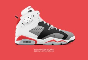 Air Jordan 6 'Infrared 90' by BBoyKai91