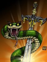 Serpent and the Sword by dmvcomics