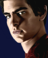 Andrew Garfield as Spiderman/Peter Parker by MelMelArt