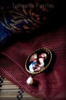 Baroque Brass Virgin Mary brooch by Johanna-Ferrius
