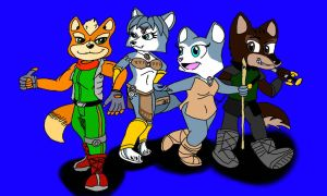 Star Fox Adventures AND Dinosaur Planet (Colored) by Agentwolfman626
