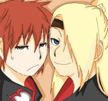 Deidara and Sasori by Orangeplum