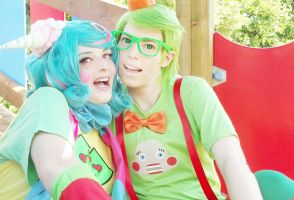 Homestuck - TricksterRoxy and TricksterJake by Valyna