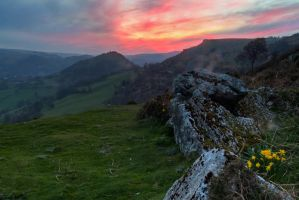 Panorama sunset by CharmingPhotography