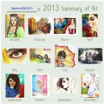 2013 Summary Of Art by SquirrelGirl15