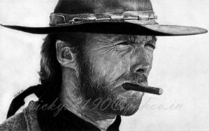 Clint Eastwood by GreyVic