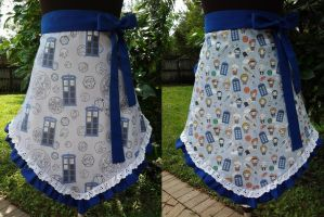Doctor Who, TARDIS Half Aprons by Timestitcher