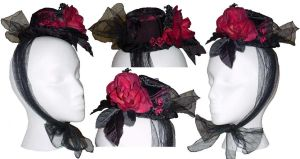 Mrs Lovett Matching Mini Hat by RetroscopeFashions