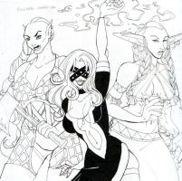Horde Girls are Awesome Inks by VerdantMistress