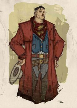 Justice League Western Re-Design - SUPERMAN by DenisM79