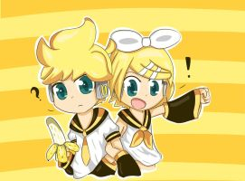 Rin and Len redraw colored by catscr123