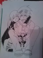 maka and soul lineart by Killjoy-Chidori