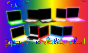 MMD - Colorful Laptops + DL by RoseBeri