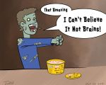 Drawtober 01 - I Can't Believe It Not Brains. by JohnSlaughter