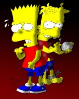 Bart and Hugo Simpson by ANDREU-T