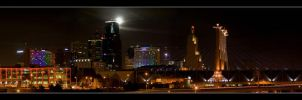 Kansas City Skyline (Color) by dukewaves