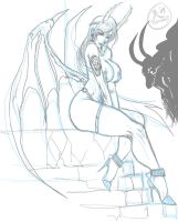 Succubus sketch by megaween