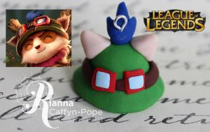 Teemo's hat charm by CupCakeMonsterCrafts