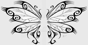 Firefly Wings Tattoo Design by roguewyndwalker