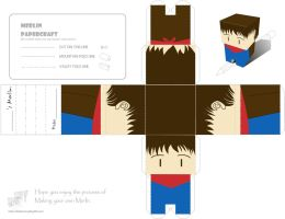 Merlin papercraft by dudufactory