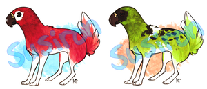Fluffy Tail Gryph Adopts - SOLD! by Susiron