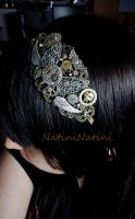 Steampunk butterfly head band by Natini