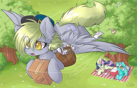 Derpy's Delivery by Sapphfyr