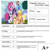 Mlp Report Card by penguinlover4