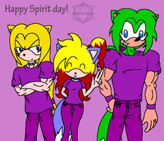 Happy Spirit day! by SparDanger