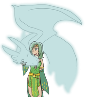 Rydia and her Mist Dragon by Sixala