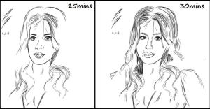 Chloe Bennet Timed Sketch Comparison by F-Stormer-3000